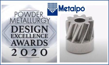 Metalpó é premiada no Powder Metallurgy Design Excellence Awards 2020